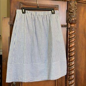 J. Crew Factory cotton linen skirt. M